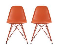 Danish Modern Sofa Legs by Amazon Com Dhp Mid Century Modern Molded Chair With Coloured Leg