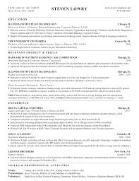 Investment Banking Analyst Resume Derivatives Sample Example Derivative Operations Intern