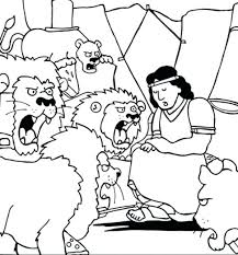 Full Image For Daniel Thrown Into Lions Den In And The Coloring Page