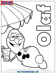 Frozen Olaf Printable Coloring Page