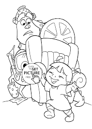 Monster Inc Cartoon Coloring Pages For Kids Printable Free