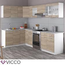 vicco küche rick eck winkel küchenzeile küchenblock einbauküche 270 cm sonoma