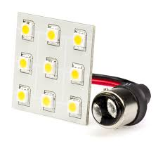 1142 led bulb single intensity dual contact 9 high power smd led
