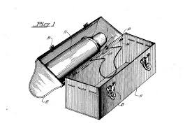 The Patent Drawing Of Metal Workingmans Lunchbox