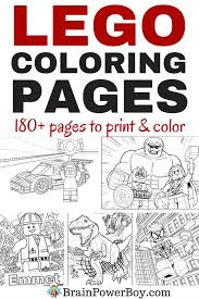 Are Your Kids Big LEGO Fans Do They Like To Color Have We Got Coloring Pages