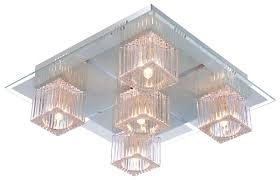deckenleuchte metall glas wohnzimmer deckenle dekorsteine globo 68424 5 animus