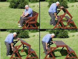 diy 2 in 1 convertible folding bench and picnic table combo how