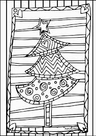 Christmas Print And Play Tree Coloring PageLittle
