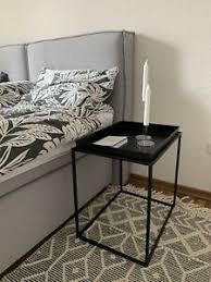 beistelltisch nachttisch schwarz schlafzimmer möbel