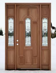 Front Entry Door Custom Single With Sidelite Solid Wood Doors