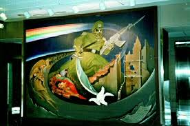 Denver International Airport Murals New World Order by Why Has The New Age 1993 Yod Esau Israel American President U0027s Not
