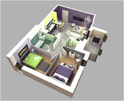 3 Bedroom Home Design Phenomenal 10 Awesome Two Apartment 3D Floor Plans Architecture Ideas 19