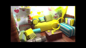 Barbie Living Room Furniture Diy by Barbie Dollhouse Barbie House Made Of Recycled Materials Youtube
