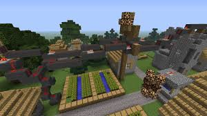 Redstone Lamps That Turn On At Night by How To Turn Your Village Electric With This Working Power Line