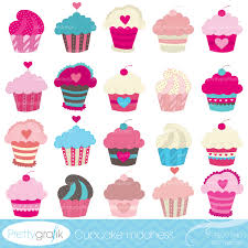 Cupcake madness clipart mercial use