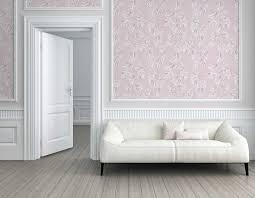 vliestapete blätter floral rosa weiß 37281 1