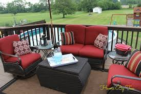 Home By Ten Patio Conversation Set and Outdoor Rug Home Depot Lowes