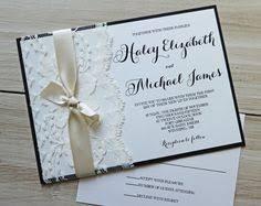 Rustic Wedding Invitation Elegant Lace Classic DIY Kit Or Printable