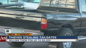 Thieves Stealing Pickup Truck Tailgates, Selling For Thousands Gmc Multipro Tailgate Is Coming To The Silradoeventually The Tattered Flag Decal Inshane Designs How 2019 Sierras Works Youtube Ledglow 60 Led Light Bar With White Reverse Lights For Replacing A On Ford F150 16 Steps Thieves Stealing Pickup Truck Tailgates Selling Thousands Bedrock Decklid Caterpillar 745c Articulated 2002 Good Used Complete Pickup Bed With And For Sale Storm Truck Project Episode 10 Custom Framework Tailgate Wiktionary Feds Probing Reports Of Fseries Super Duty Trouble
