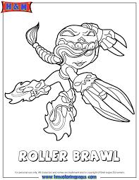Skylanders Swap Force Undead Roller Brawl Coloring Page