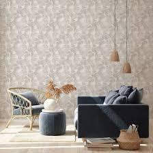 livingwalls vliestapete new walls tapete cosy relax mit palmenblättern beige braun creme