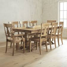 Pier 1 Dining Chairs by Bradding Natural Stonewash 9 Piece Dining Set With Armchairs