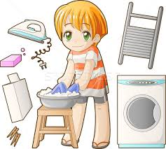 Kids Washing Clothes Clipart 11
