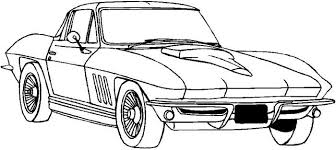 Mustang Coloring Page Classic Cars Pages