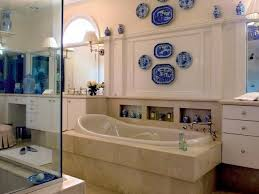Elegant Bathroom With China Plates Mounted In The Walls Also China ... Budget Decorating Ideas For Your Guest Bathroom 21 Small Homey Home Design Christmas Decorating Your Deep Finished Wicker Baskets And Decorative Horse Wall Tile On Walls 120531 Tiles Designs Colors 18 Bathroom Wall Ideas Yellow Decor Pictures Tips From Hgtv Beauteous At With For Airpodstrapco How Important 23 Of And
