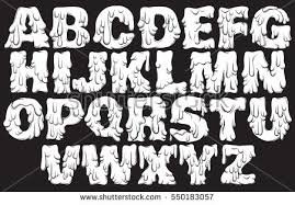 Trendy Font Made In Hand Drawn Line Style Cute For