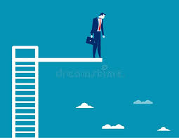 Download Business Man On Diving Board Concept Vector Stock