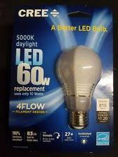 led cree 60w equivalent daylight a19 dimmable light bulb with 4