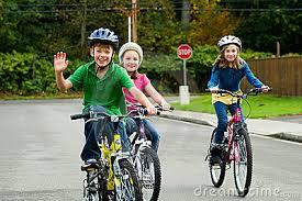 Happy Kids Riding Bikes 22095492