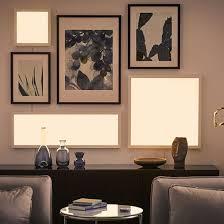 lichtpaneel floalt weißspektrum wandleuchte wohnzimmer