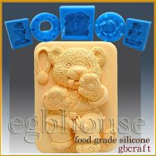 2D Silicone Soap Sugar Craft Fondant Chocolate Candy Mold Tae Kwon Do Bear
