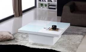 table salon laque blanc meuble table basse salon trendsetter