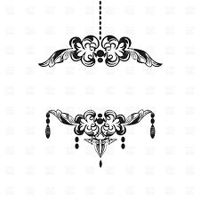 Black Vintage Chandelier Silhouette Royalty Free Vector Clip Art