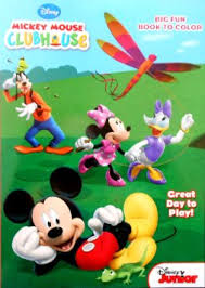 Disney Mickey Mouse Clubhouse Friends Coloring Book Great Day To Play