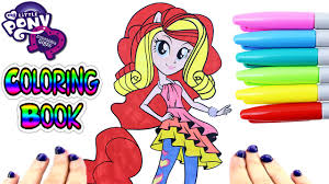 My Little Pony Coloring Book Sunset Shimmer Rainbow Rocks Equestria Girls