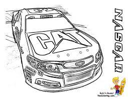Coloring Pages Free NASCAR Impala No 31 At YesColoring Mustang 2010 Race Car