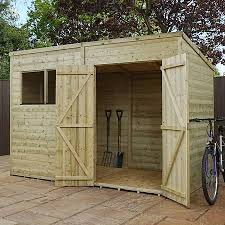 10 x 6 pressure treated tongue and groove pent shed waltons sheds