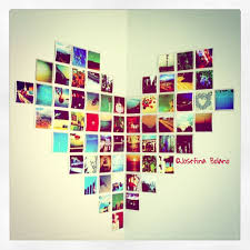 Heart Shaped Photo Wall Art With Memories Embedded
