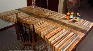 DIY Inspiration Stacked Wood Pallet Desk