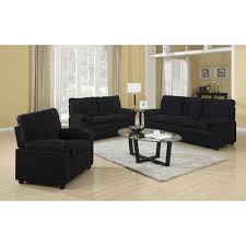 buchannan microfiber 3 piece living room set walmart com