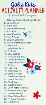 Free Summer Activity Calendar Kids Love
