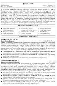 It Project Manager Resume Sample Technical Examples Pdf
