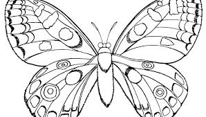Butterfly Coloring Pages For Kids Printable Flowers Cute Free Animals Style