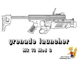 Coloring Army MK 13 Grenade Launcher At YesColoring Armored Vehicle Page