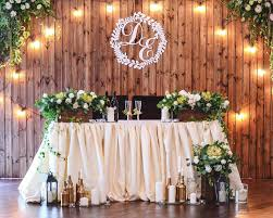 A Rustic Wedding Stage Decoration Sky Full Of