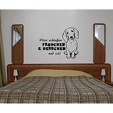 wandtattoo dackel sprüche hier schlafen frauchen ich rauhaardackel tier hund tür aufkleber schlafzimmer 1b096 farbe königsblau matt breite vom